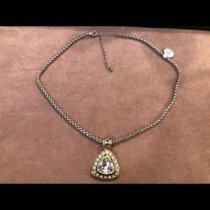 Yurman inspired diamond necklace with crystals